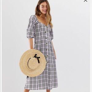 Asos plaid/checked maxi dress